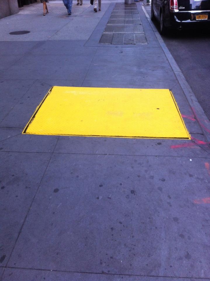 Sidewalk on 7th Street, New York, NY / iPhone 4